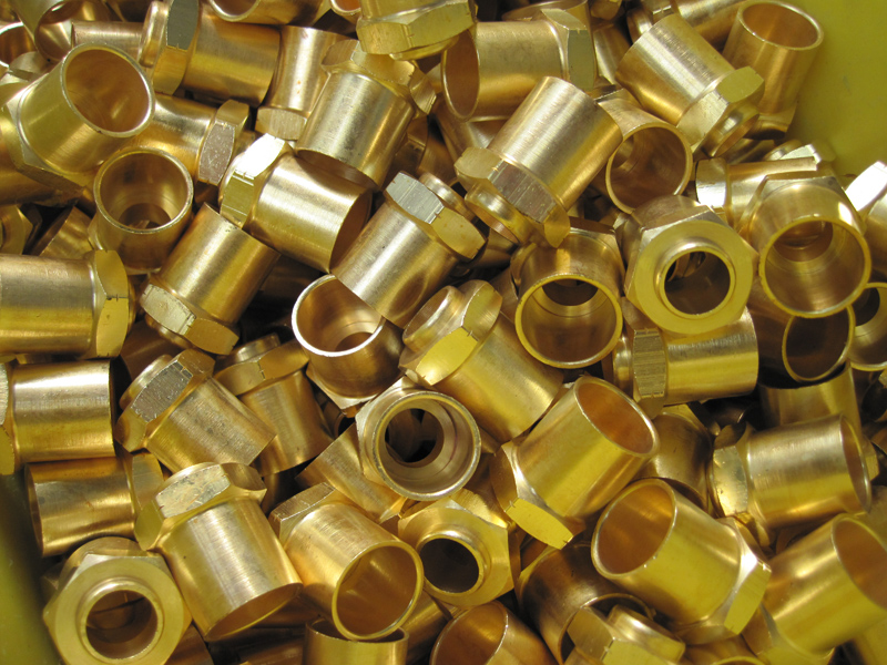 Bright Dipped Brass Turned Parts Century Heat Treatment